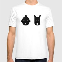 tintin & milu Mens Fitted Tee White SMALL