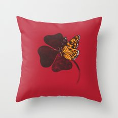 By Chance Red Throw Pillow