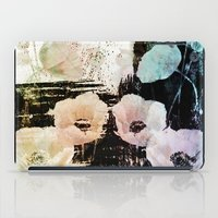 poppies on abstract background iPad Case
