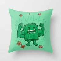 The Strongest Log of ALL Throw Pillow