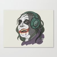 Joker Illustration Canvas Print