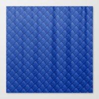 Blue Diamond Pattern Cur… Canvas Print