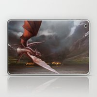 Smaug Burns Lake-Town Laptop & iPad Skin