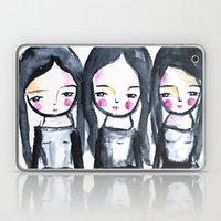3 girls black and white Laptop & iPad Skin