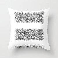 tri white Throw Pillow