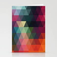 Vector retro pattern of geometric shapes. Colorful mosaic banner. Geometric hipster retro background Stationery Cards