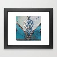 Blue Rusty VW Framed Art Print
