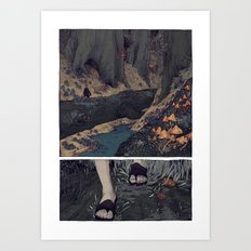 The Hunt-Forest Art Print