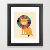 Mr. Confidence Framed Art Print