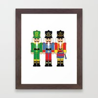 Nutcracker Soldiers Framed Art Print