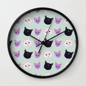 Moon Cat Trio Wall Clock