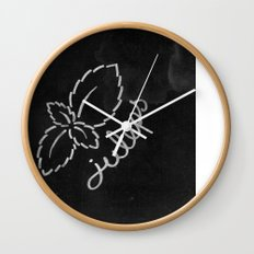Mint Juleps Wall Clock