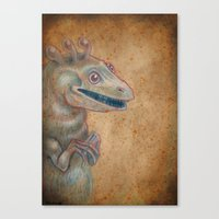 Medieval monster XVII Canvas Print