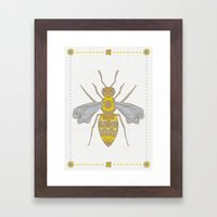 Mr Bee Framed Art Print