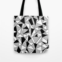 Ab Lines With Black Bloc… Tote Bag