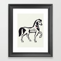 Horse - Animal Series Framed Art Print