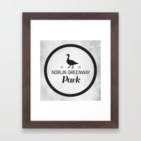 Norlin Greenway Park Framed Art Print