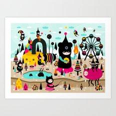 A joyful time! Art Print