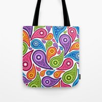 Crazy Paisley Tote Bag