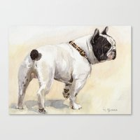 French Bulldog A050 Canvas Print