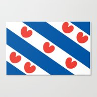 Flag Of Friesland Canvas Print
