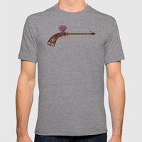 Rose Water Pistol Mens Fitted Tee Athletic Grey SMALL