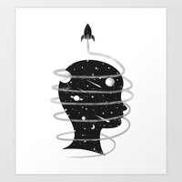Spaced Redux Art Print