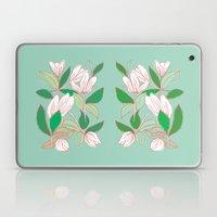 Floating Tulips (mint Gr… Laptop & iPad Skin