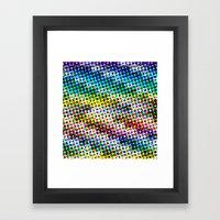 Halftone Color Chart Framed Art Print
