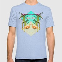 go flamingo, go ! Mens Fitted Tee Tri-Blue SMALL