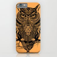 owl iPhone & iPod Cases featuring Warrior Owl 2 by Rachel Caldwell