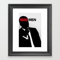 Mad Men - Don Draper - M… Framed Art Print