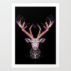 black deer Art Print