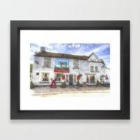 The Bull Pub Theydon Bois Watercolour Framed Art Print