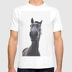 Simply horse SMALL Mens Fitted Tee White