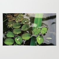 Mini Water Lilies and Water Bug Rug