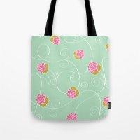 Raspberry Patch Aqua Tote Bag