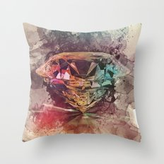 diamond rainbow Throw Pillow