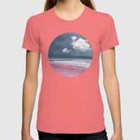 LONELY BEACH Womens Fitted Tee Pomegranate SMALL