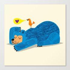 The Bear and The Bird Canvas Print
