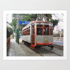 Old tramways VII Art Print