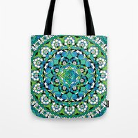 Khatem Rosette 003 | Turquoise Tote Bag