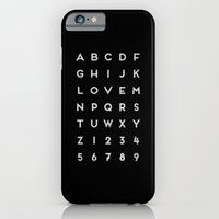 Letter Love - Black iPhone 6 Slim Case