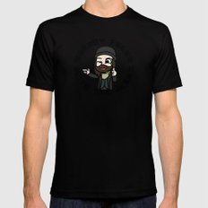 Nobody f##ks with the Jesus Mens Fitted Tee Black SMALL