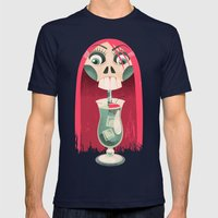 The Deadliest Sip Mens Fitted Tee Navy SMALL