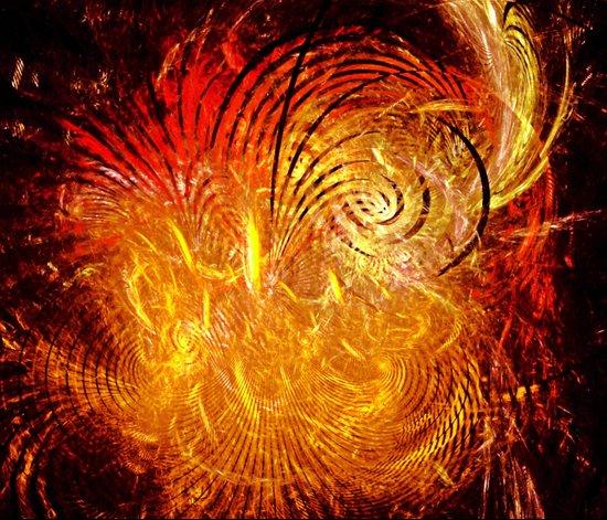Sun Swirl Art Print