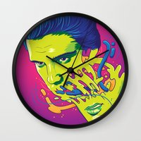Happily melting Elvis Wall Clock