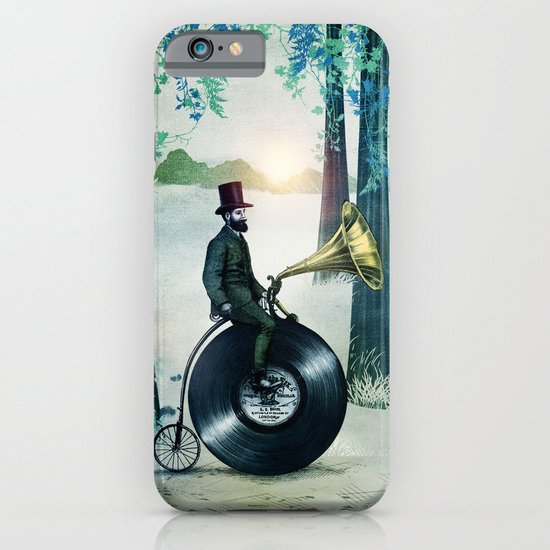 Music man in the woods by Eric Fan & Viviana González iPhone & iPod Case