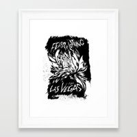 Fear & Loathing inks Framed Art Print