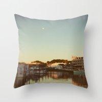 Harbor Moon Throw Pillow